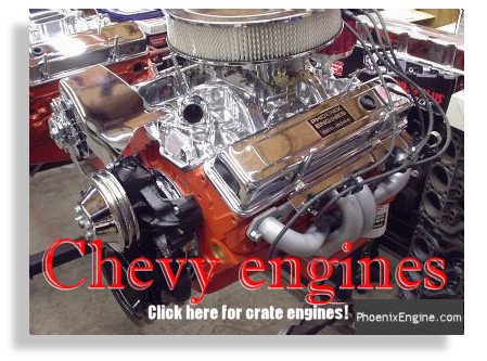 Chevy Crate Engines - click to go to the Chevy Section of the Crate Engines Catalog