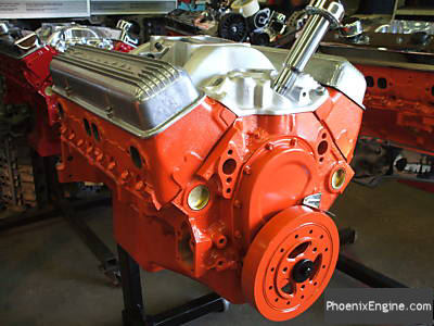 Chevy 327 350HP crate engine - double hump fuel injected