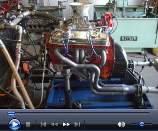 Sample video of an engine on the Fast Track stand, with mufflers attached.